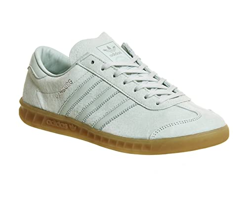 b9bbc0e172a6 adidas Mens Originals Mens Hamburg Trainers in Green - UK 4