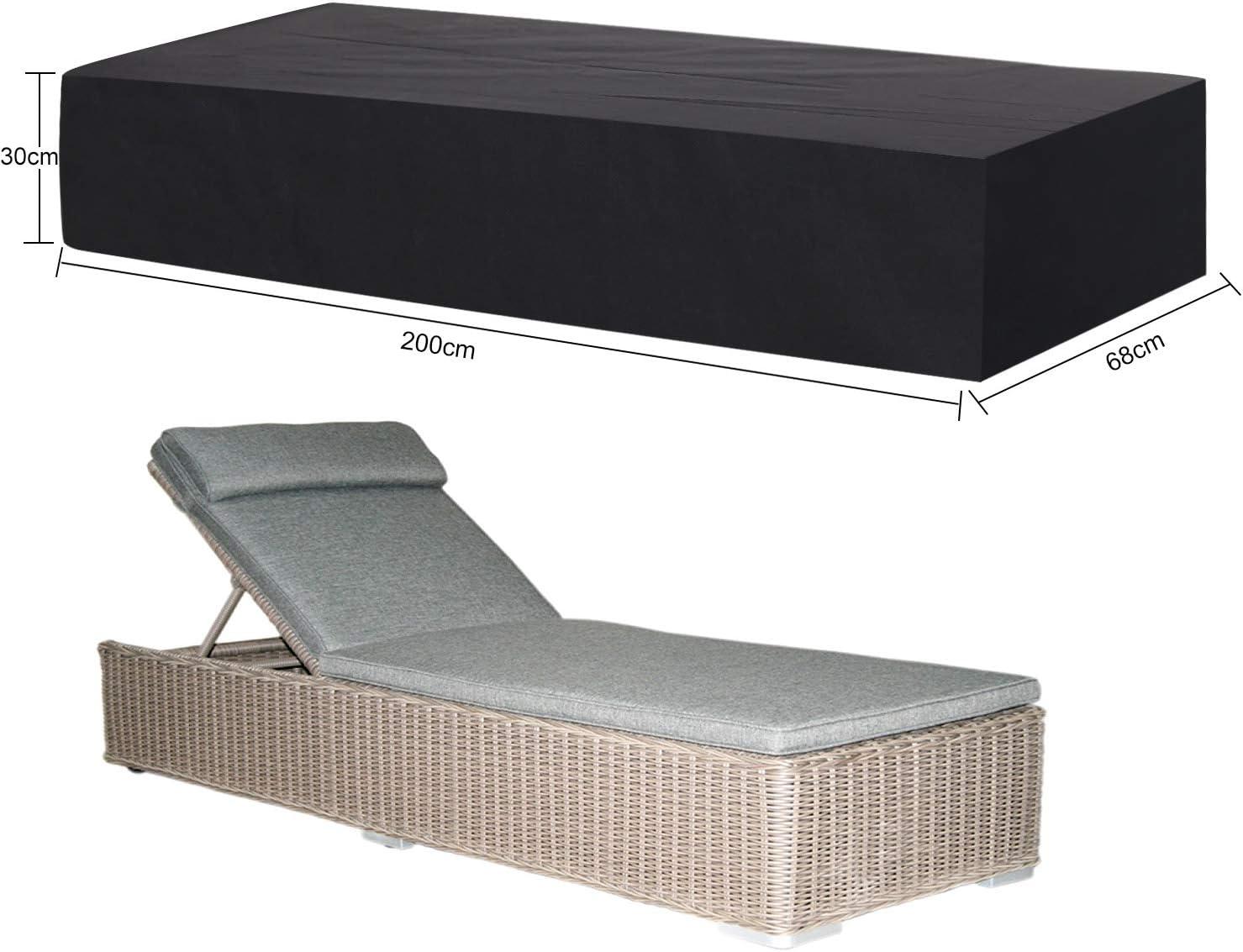 TEPSMIGO Copertura per Sedia a Sdraio,Copertura per Chaise longue,Copertura Cover Protezione per Sdraio 200 x 68 x 30cm