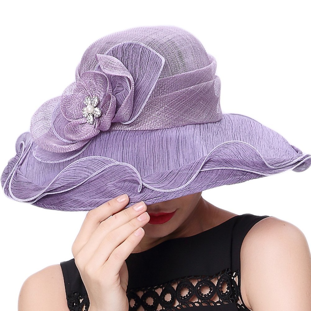 Koola s hats Women Hat Wide Brim Kentucky Derby Church Hat Wedding Hat  Shawl at Amazon Women s Clothing store  0ff60c6c1efa