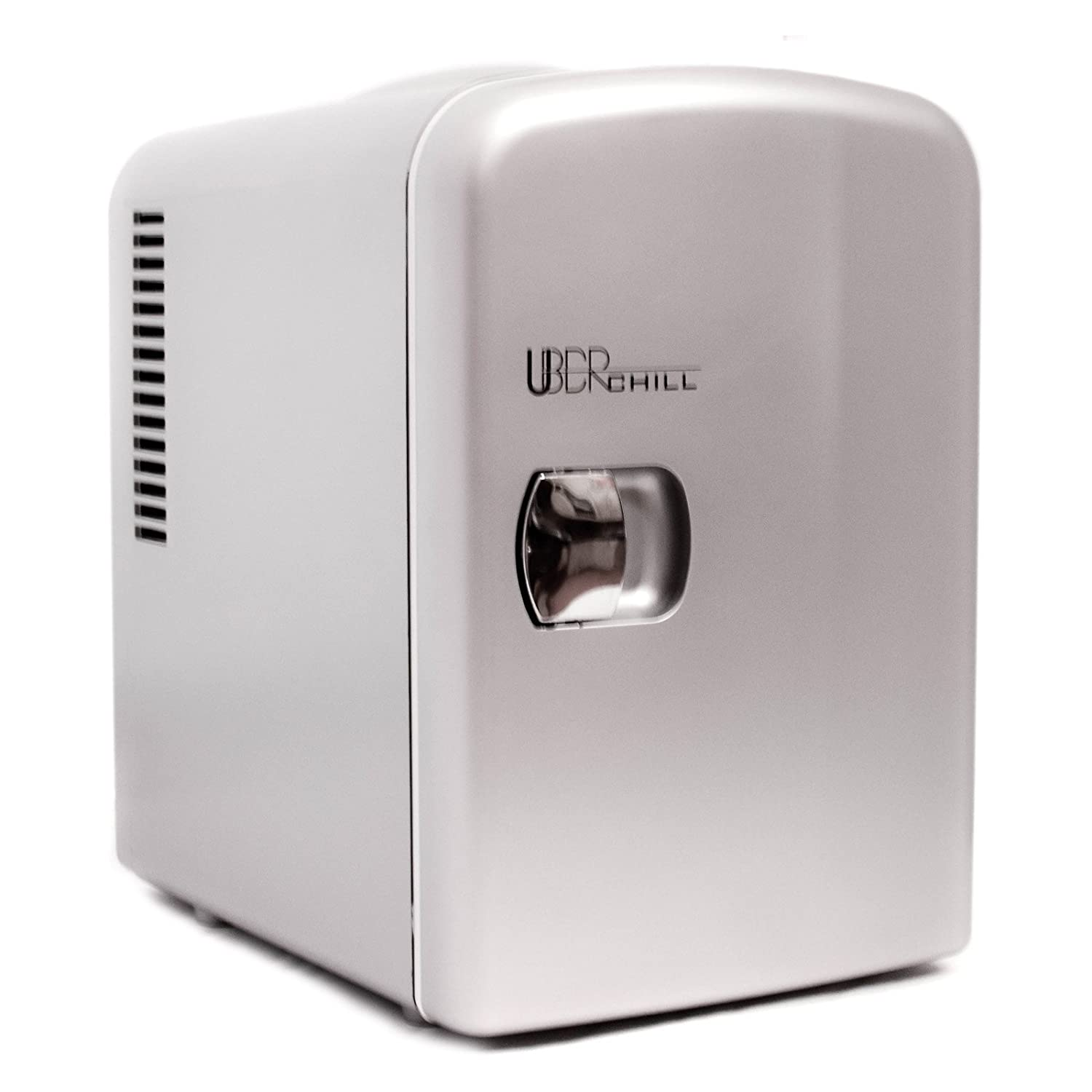 Uber Appliance UB CH1 Uber Chill Mini Fridge 6 can portable Thermoelectric  Cooler and Warmer mini fridge for bedroom  office or. Amazon com  Compact Refrigerators  Home   Kitchen