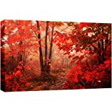 LARGE AUTUMN FOREST CANVAS PICTURE mounted and ready to hang 34 x 20 inches (86 x 52 cm) by Canvas Interiors by CANVAS INTERIORS