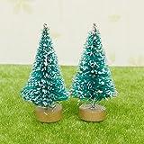 1:12 Dollhouse Tree Miniature Christmas White Snowy Xmas Tree Garden Decorative Ornaments