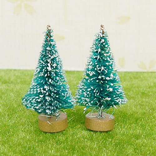 zn 112 dollhouse miniature christmas tree christmas doll house decoration miniature christmas snow decorated