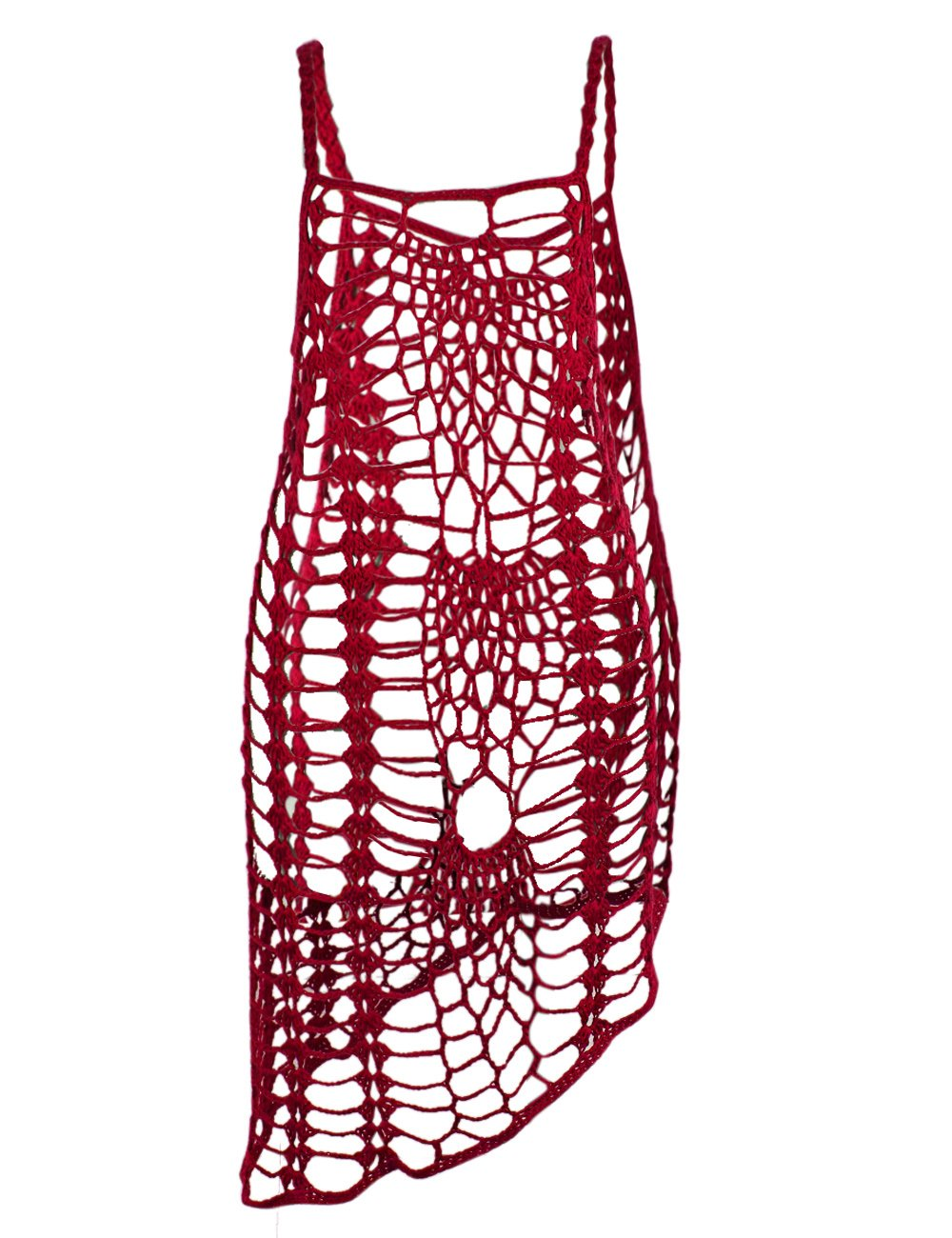 fbea68c22600d Galleon - Shermie Women's Vintage Crochet Lace Bikini Swimsuit Cover Ups  Short Hollow Out Beach Dresses (M, Red)