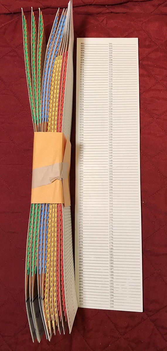 Opmnla 1 Dozen 100/50/200/55 Sure Tip Board Fund Raising Raffle Bingo Pull Tab Jar Raffle Tickets VTG Key (200 Tips)