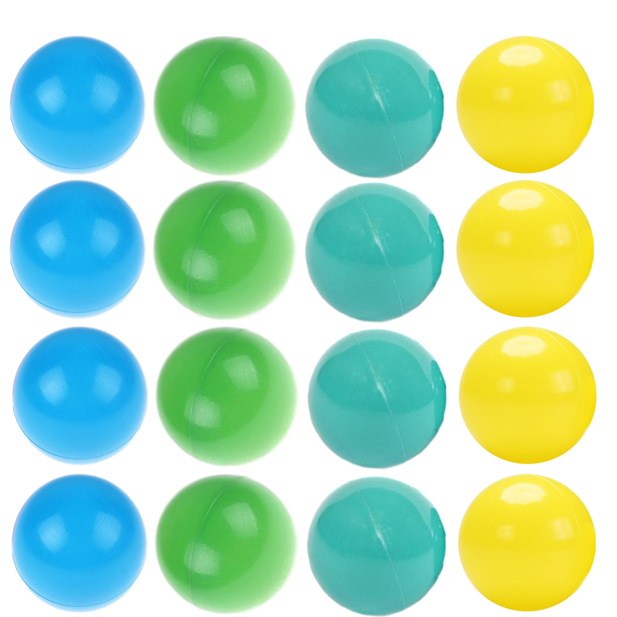 Playz 200 Special Edition Soft Plastic Play Balls - Crush Proof, No Sharp Edges, Non Toxic, Phthalate & BPA Free - Use in Baby or Toddler Ball Pit, Play Tents & Tunnels for Indoor & Outdoor