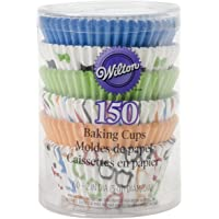 Wilton 415-2869 150 Count Bow Ties and Basics Baking Cups Value Pack, Assorted