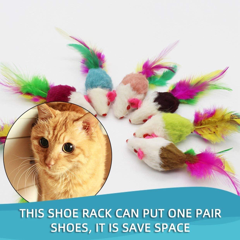 YUIO The Cat Supplies giocattolo giocattolo per gatti a orologeria topolino e gatto Giocattolo per gatti e gatti colorato