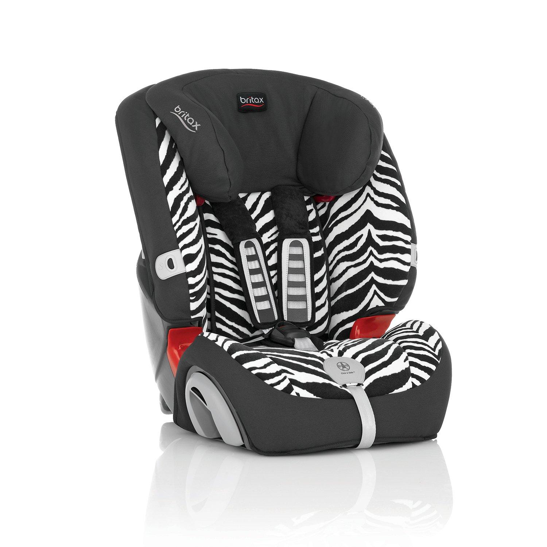 Britax evolva 123 plus zebra dress