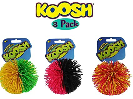Set of 3 Original Koosh Balls by Basic Fun Spiele Koosh