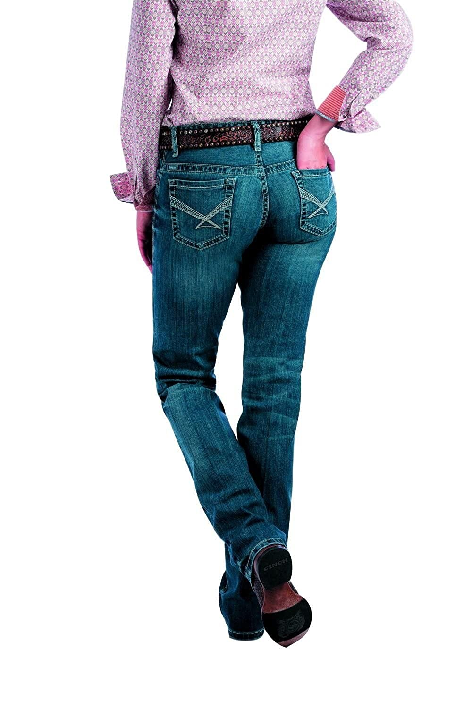 Cinch Western Denim Jeans Women Ada Relaxed 3 Long Med Wash MJ81352071