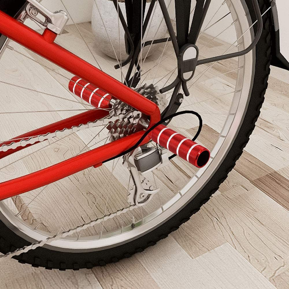 2 PCS Bicycle Non-slip Aluminum Foot Post Foot Bar Cylindrical Mountain Bike