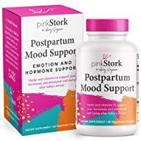 Pink Stork Postpartum Mood Support: Balance Hormones with Ashwagandha + Recovery...