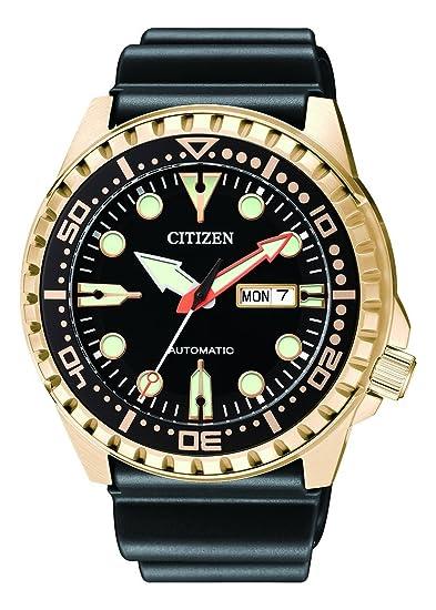 Citizen Hombre Analog Reloj Automático con Caucho Pulsera nh8383 – 17ee