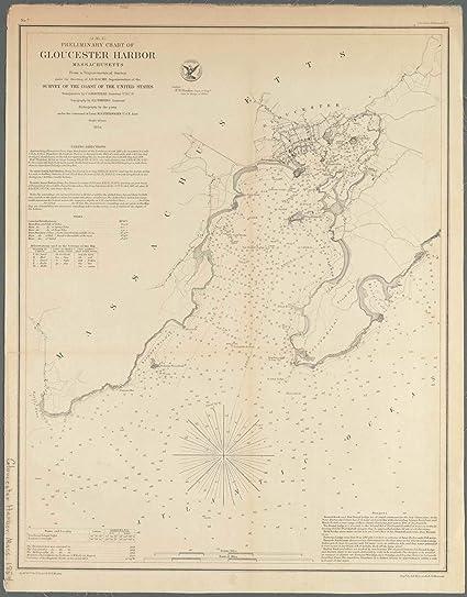 Amazon.com: Vintography Reprinted 18 x 24 1854 Map of Washington ...
