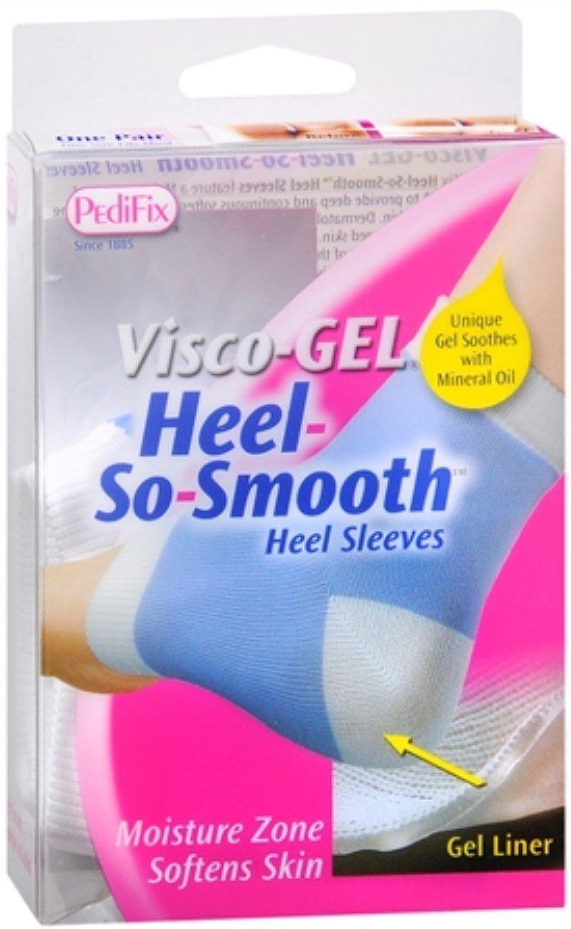 PediFix Visco-Gel Heel-So-Smooth Heel Sleeves 1 Pair (Pack of 8)