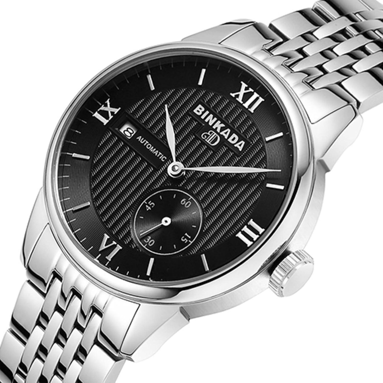 Automatische mechanische Uhren-AushÖhlen Fashion Watch-Business Casual mit einer Kalender-Uhr-C