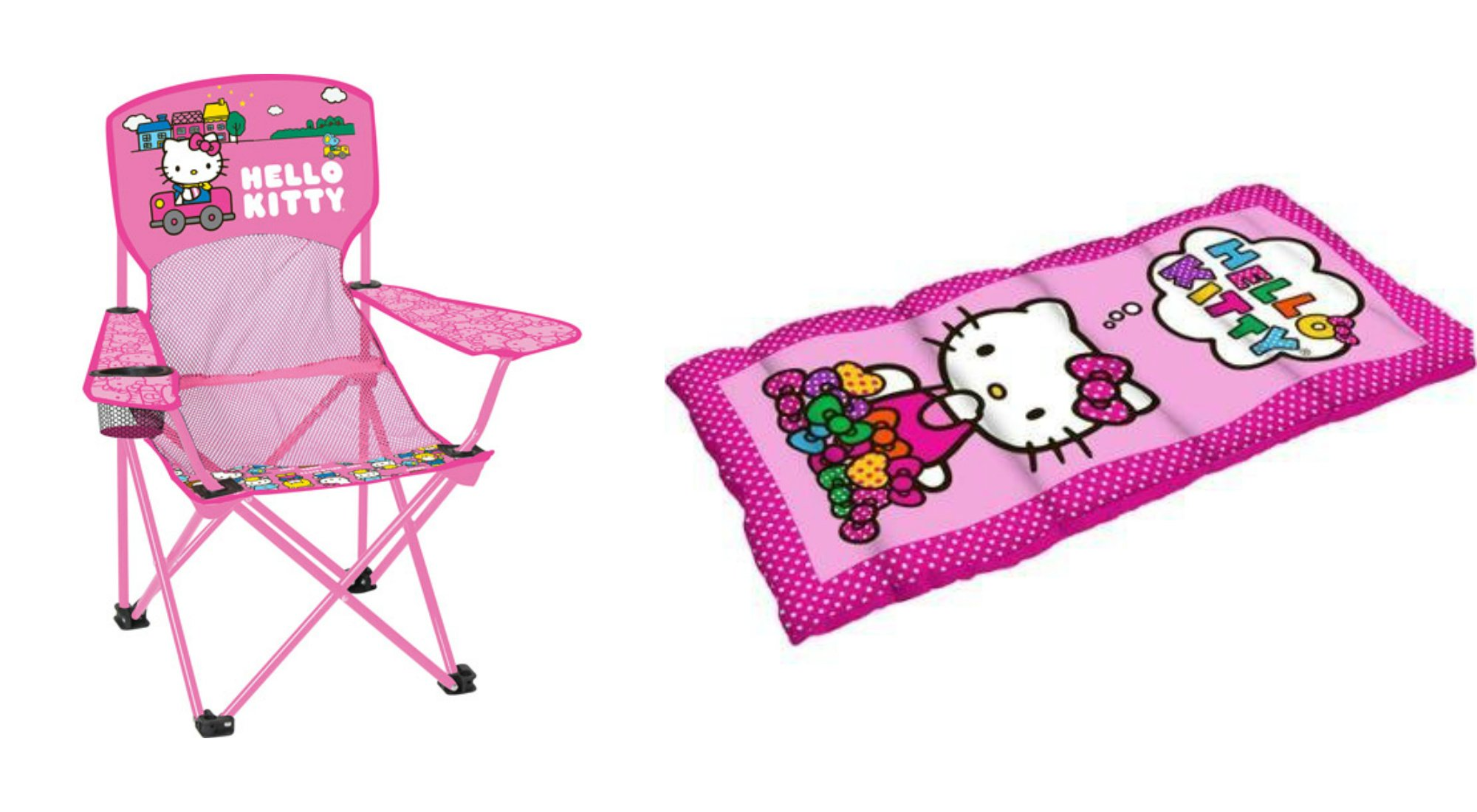 Hello Kitty Sleeping Bag and Chair 2 Piece Camping Set