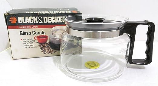 Black & Decker, jarra de vidrio 3355d... Se adapta a negro ...