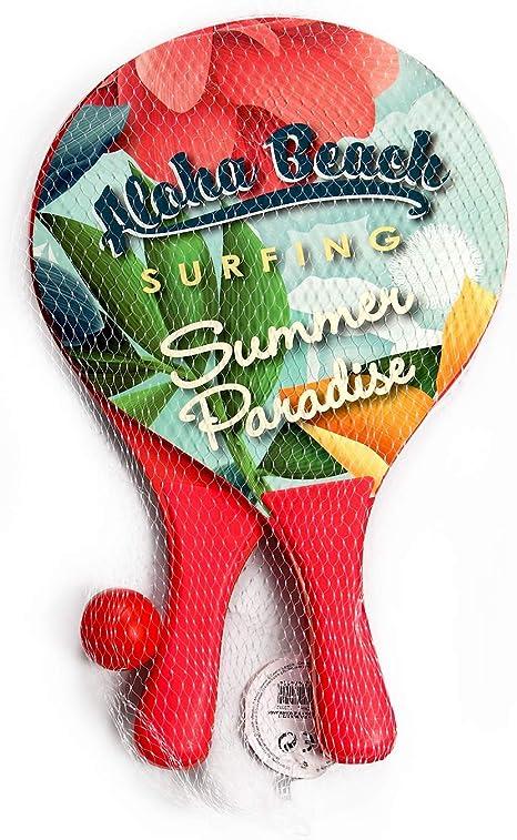 Amazon.com : DECOQ Beach Paddle Ball Rackets Classic Wood ...