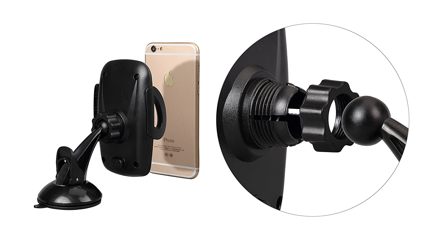 Tekjoy Easy One Touch for Dashboard Windshield /& Air Vent Car Phone Mount Holder for iPhone X 8 Plus 7 6s SE Samsung Galaxy S9 S8 Edge S7 S6 Note 8 /& Other Smartphone