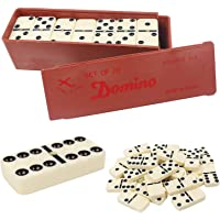 Jonquin Double Six Domino Game Set with 28 Domino Tiles