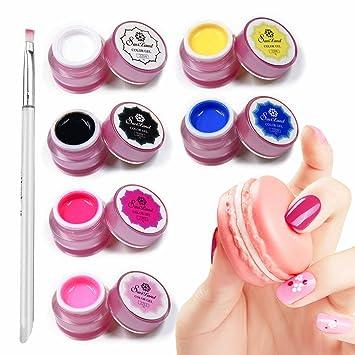 Amazon Saviland 6 Colors Nail Art Painting Nail Gel Polish