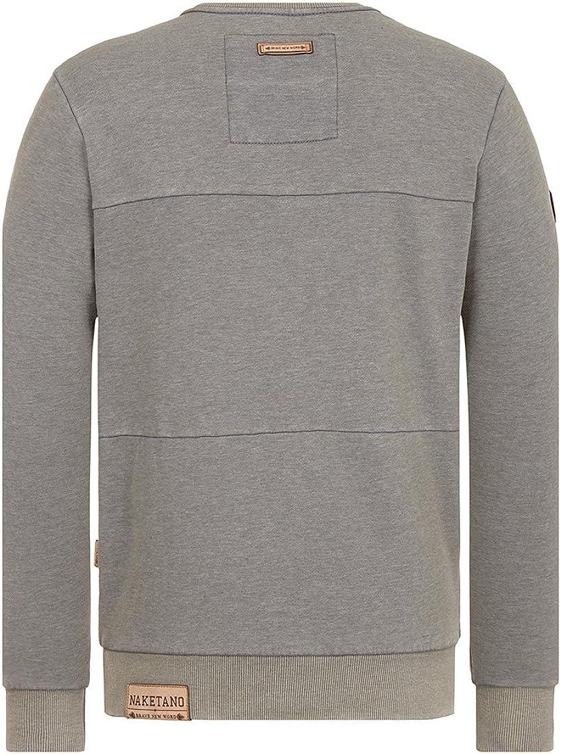 Naketano Herren Sweater Zielgruppe Sweater Heritage Dark Grey Melang