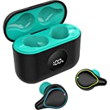 Wireless Earbuds, AHUTORU Bluetooth 5.0 Headphones TWS Stereo Touch Control Earbuds with Charging Case, IPX6 Waterproof in-Ea