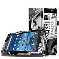 Fintie Fire 7 2015 Hülle - Premium Kunstleder Schutzhülle Tasche Etui Folio Case mit Ständerfunktion für Amazon Fire 7 Zoll (5. Generation - 2015 Modell) Tablet