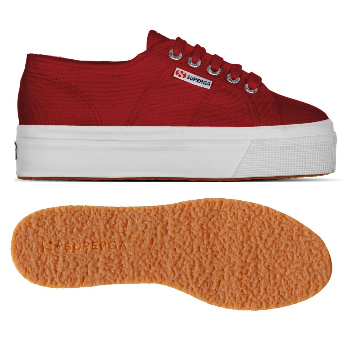 Superga Damen Acotw Linea Up and Down Sneaker Rot Rot Rot 49a27e