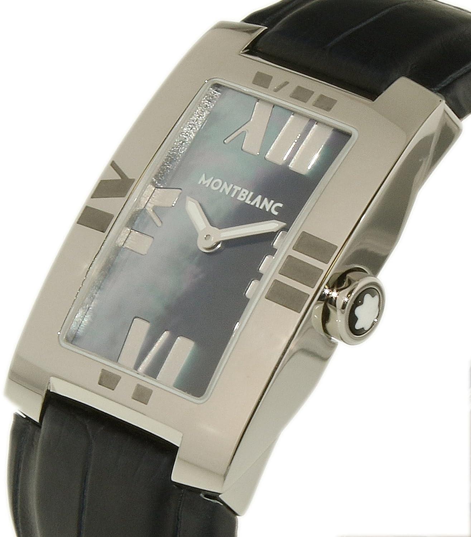 Amazon.com: Montblanc Womens Profile Elegance 104294 Blue Alligator Leather Swiss Quartz Fashion Watch: Montblanc: Watches