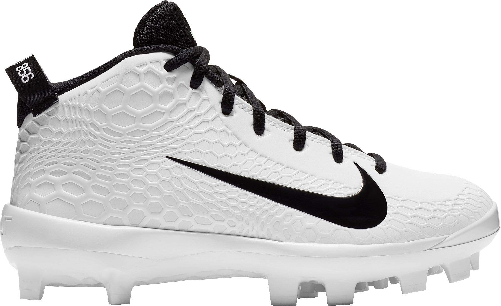 Nike Kids Force Trout 5 Pro MCS Baseball Cleat White/Black/Pure Platinum Size 1 M US by Nike