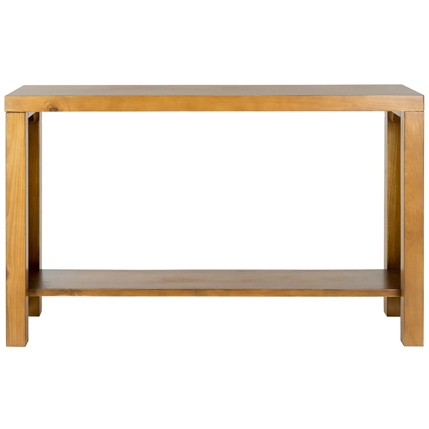 amazoncom safavieh american home collection lahoma pecan console table kitchen u0026 dining - Cheap Console Tables