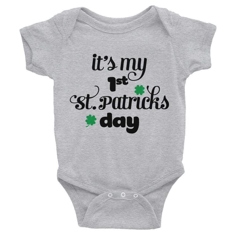 Little Miss Lucky Charm Infant Bodysuit Fast Shipping The Glow Boutique First ST Patricks Day