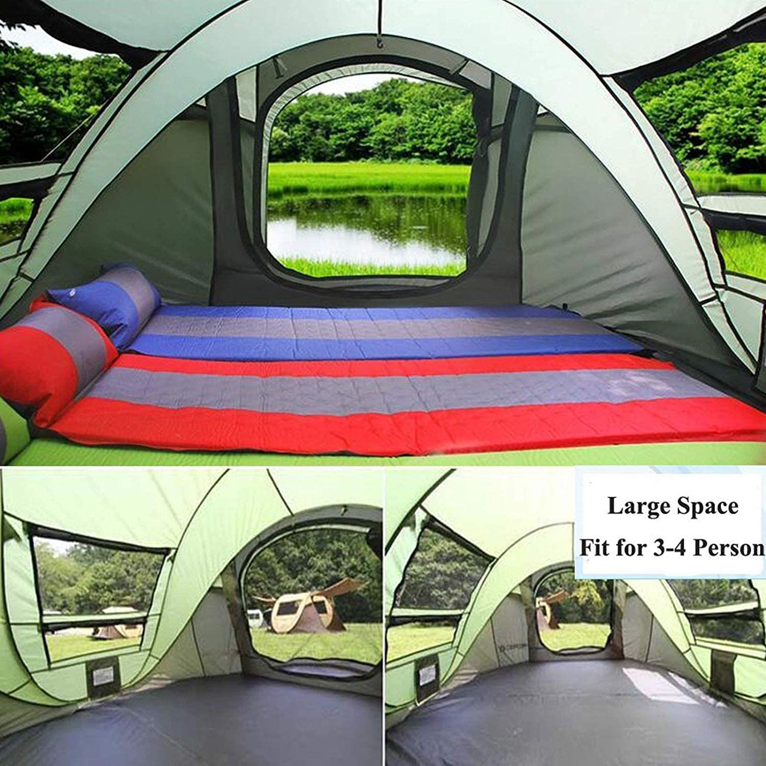 Happybuy Instant Pop Up Tent Water-Resistant 4 Person Tents for Camping Automatic and Easy Setup in Seconds