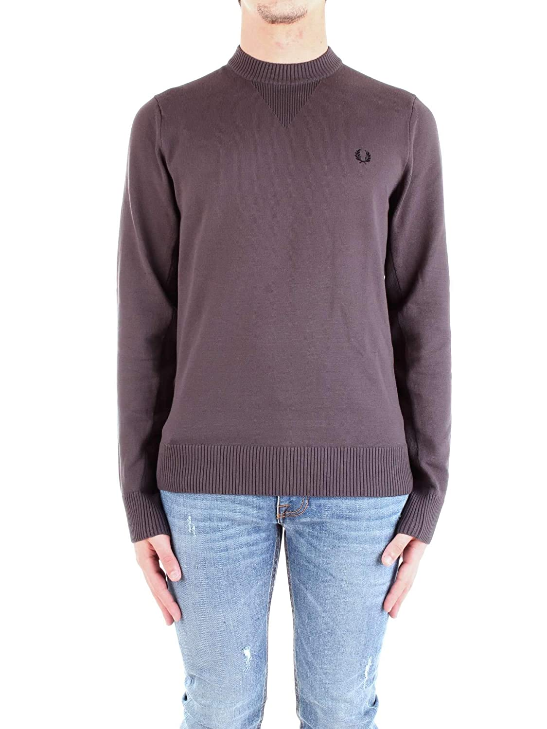 7335f0e24 Fred Perry K5503 V Insert Crew Neck Jumper Anchor Grey  Amazon.co.uk   Clothing