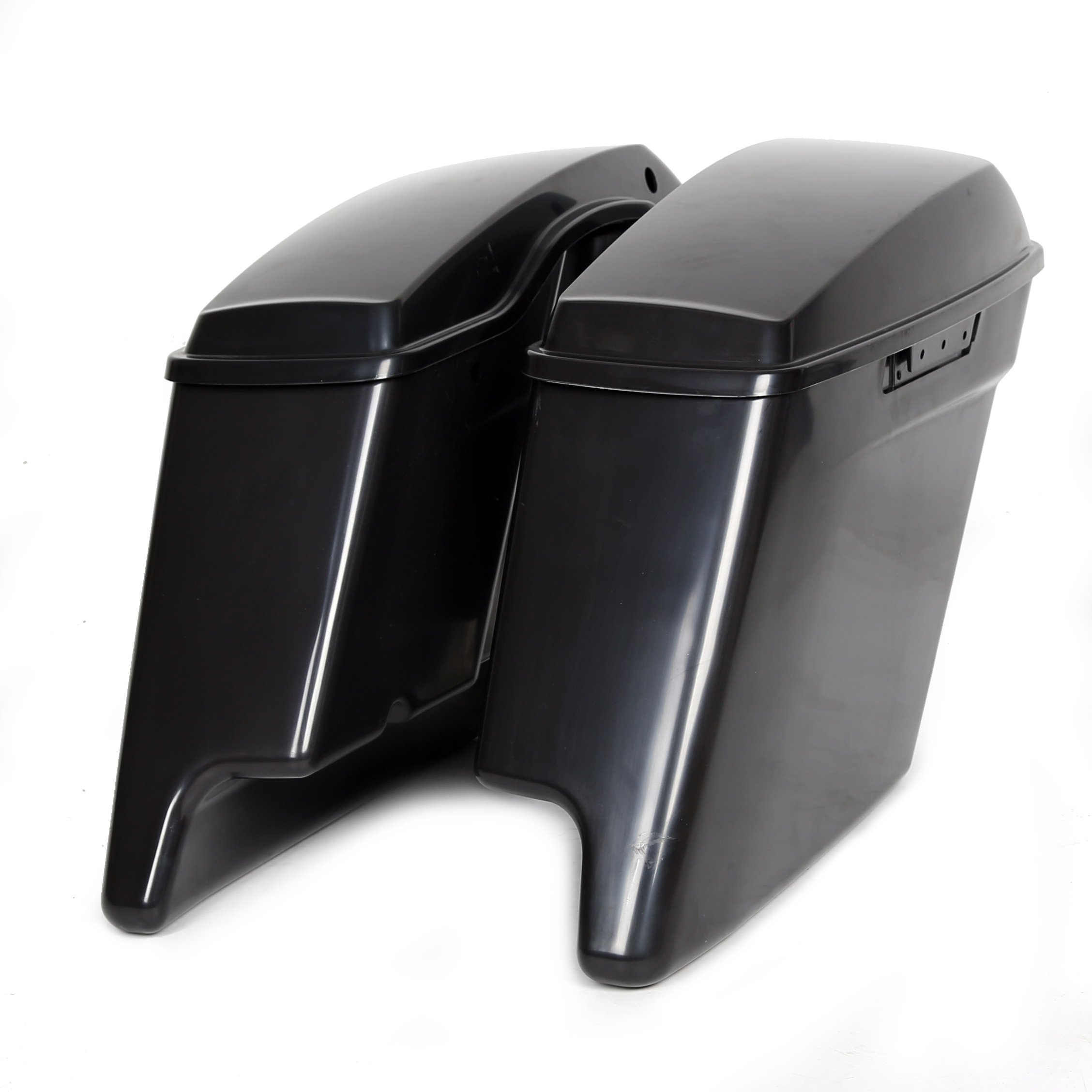 5'' Complete Black Painted/Unpainted Extended Stretched Saddlebags Saddle bag With or Without Hardware (latch kit and lock sets) or Harley Touring 14-18 (Unpainted Saddlebags Without Hardware)