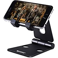 Portable Cell Phone Stand, Tendak Foldable Multi-Angle Tablet Video Game Holder Dock for Nintendo Switch iPhone X 8 7 6 Plus 6s iPad Mini and All Android Smartphones - Black