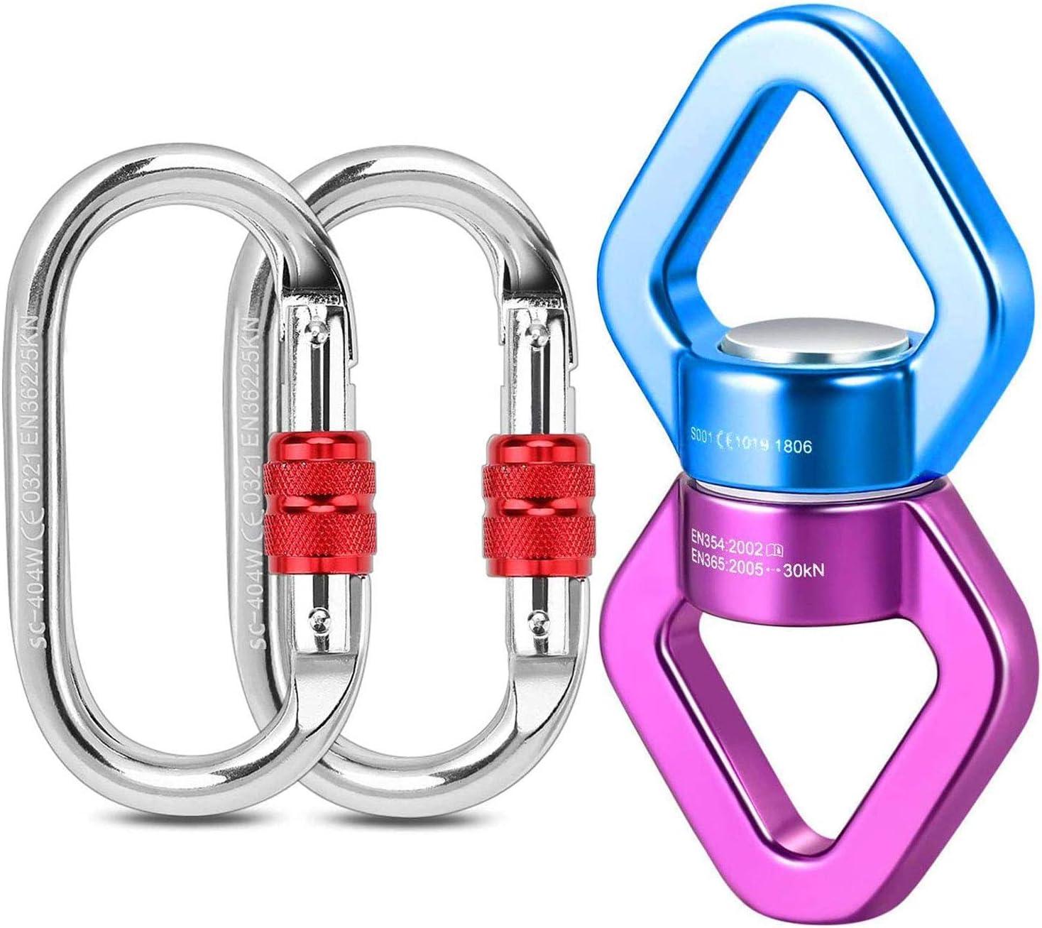 Malayas - seguridad triangular dispositivo de rotación de aleación de aluminio para colgar accesorio de gancho giratorio de escalada 30 kN 360 Degree ...