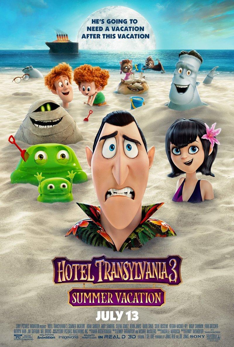 HOTEL TRANSYLVANIA 3 SUMMER VACATION MOVIE POSTER 2 Sided ORIGINAL FINAL 27x40