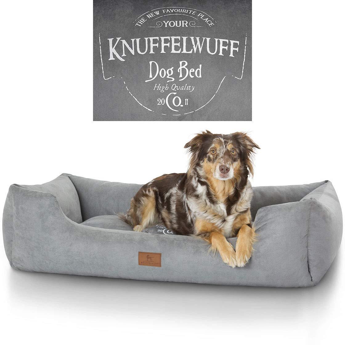 Grey XXXL 155 x 105cm Grey XXXL 155 x 105cm Knuffelwuff Liam Printed Dog Bed, X-Large 3X-Large, 155 x 105 cm, Grey