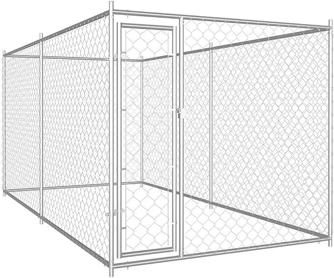 Festnight Perrera de Exterior Perreras para Perros Exterior 382x192x185 cm: Amazon.es: Hogar