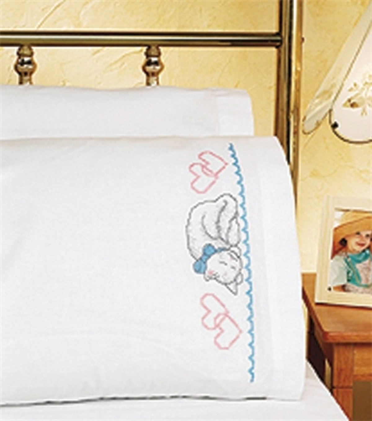 Janlynn Butterflies Pillowcase Pair Stamped Cross Stitch-20 X30