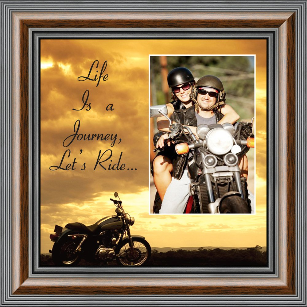 Personally Yours BOL Productions 6503LRSKY Motorcycle, Harley Davidson Picture Frame, Lets Ride Sky, 10X10 9750W