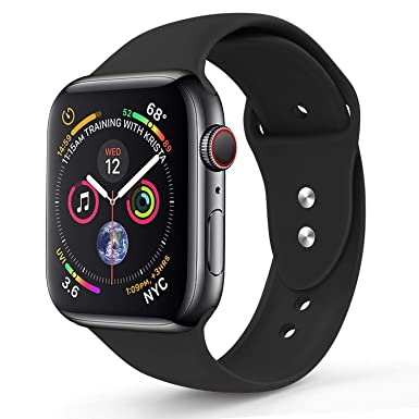 2fbbde4c3 Apple Watch Band (44mm-42mm), Sport Silicone Soft Replacement Band  Compatible For