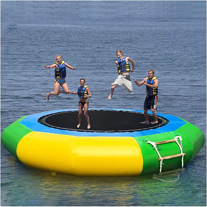 Wotryit 10 Ft Inflatable Water Trampoline - Runner-Up Small Trampoline