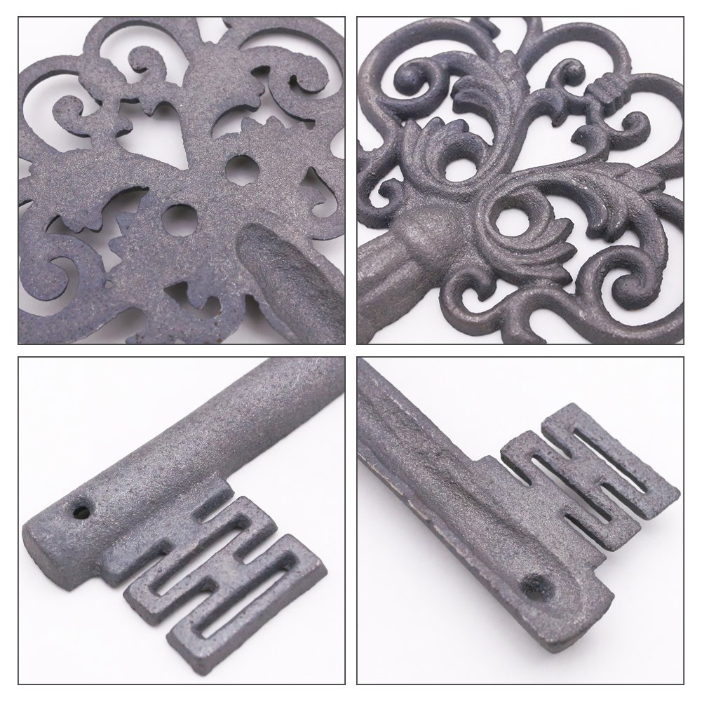 Large Iron Key, Skeleton Key Decorative Antique Style Decorative Wine Cellar Key Castle Key for Home Decor