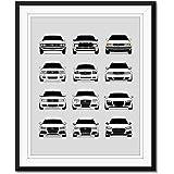 2012-2015 Audi RS4 Inspired Poster Print Wall Art Decor Handmade B8