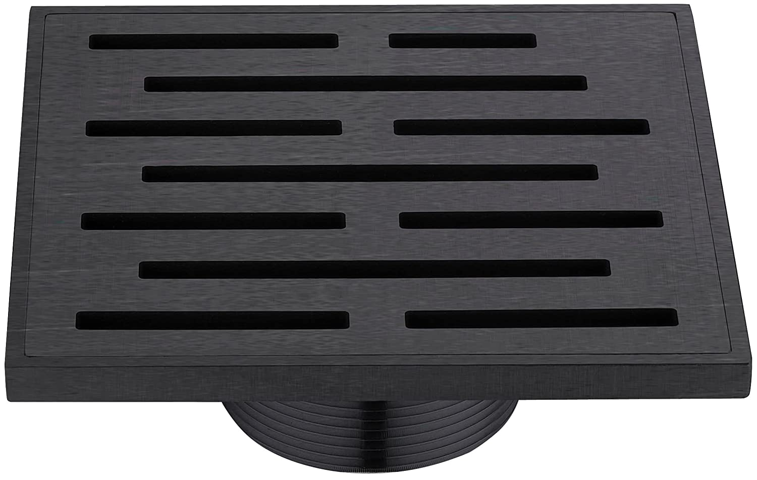 outlet Dawn SAN050504DBR Amazon River Series - Square Shower Drain 5 inch (Threaded) Dark Brown Finished
